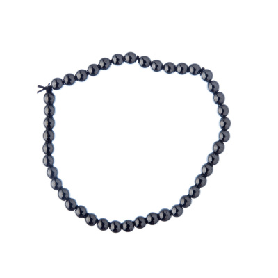 Bracciale Ematite, elastico, sfere 4mm