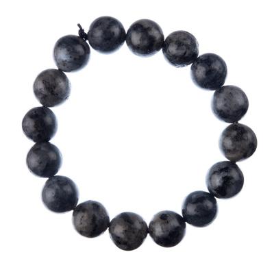 Bracciale Labradorite, elastico, sfere 12mm