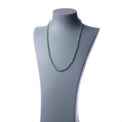Collana lunga Avventurina Verde e Ag 925, sfere 4mm