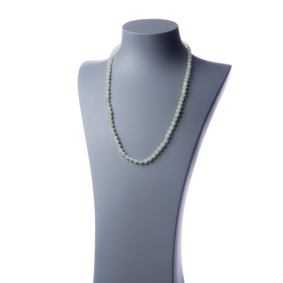 Collana lunga New Jade e Ag 925, sfere 6mm