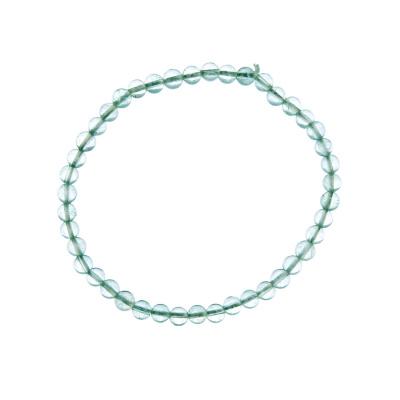 Bracciale Fluorite Verde, elastico, sfere 4mm
