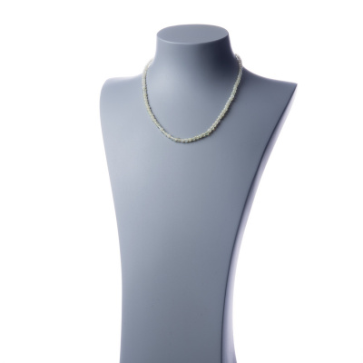 Collana corta New Jade e Ag 925, sfere 4mm