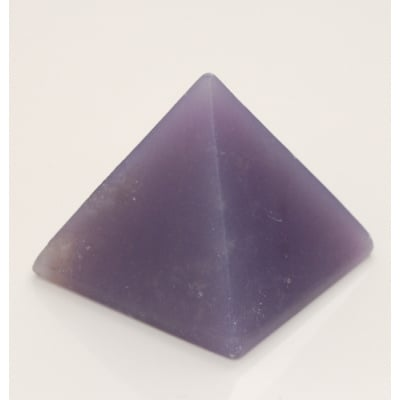 Piramide in Calcite Blu