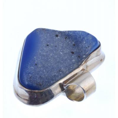 Ciondolo in Agata Blu e Ag 925