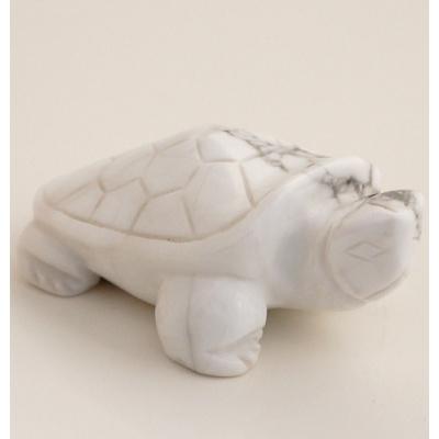Tartaruga in Howlite Bianca