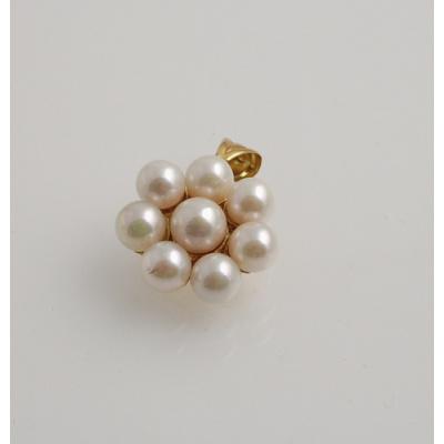 Ciondolo in Perle e Oro 18k