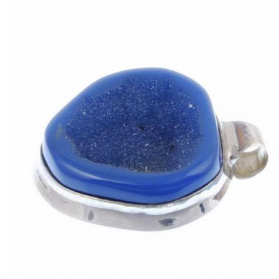 Ciondolo in Agata Blu e Argento 925