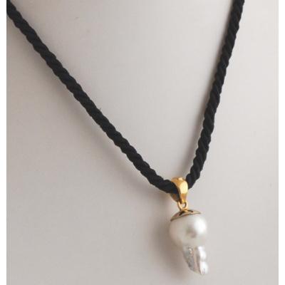Collana con Ciondolo in Perla e Oro 18k
