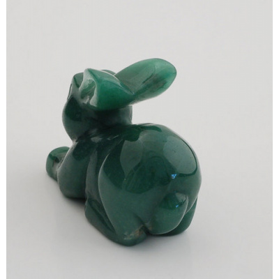 Coniglio in Avventurina Verde