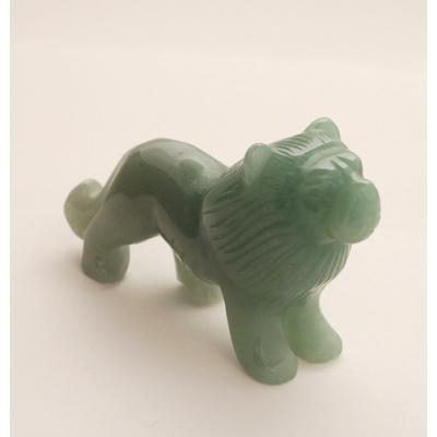 Leone in Avventurina Verde