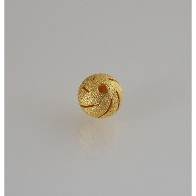 Distanziatore Pallina diamantata da 12mm color Oro - 3 pz.
