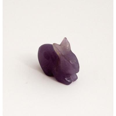 Coniglio in Calcite Blu