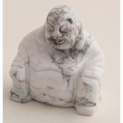 Buddha in Howlite Bianca