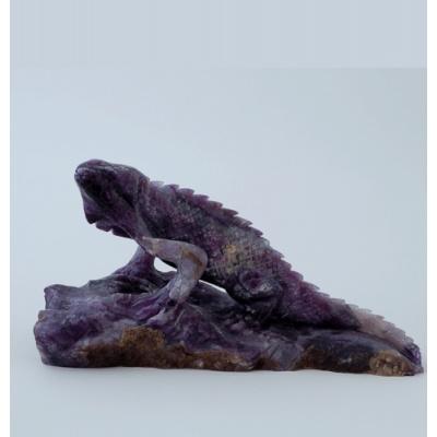 Iguana in Fluorite
