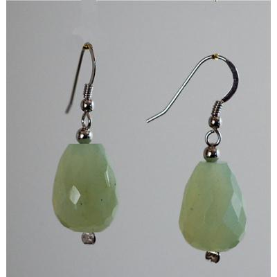 Orecchini Pendenti di New Jade e Argento 925