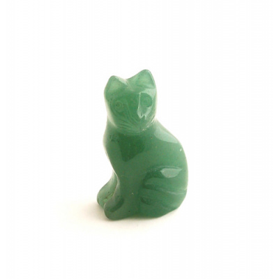 Gatto in Avventurina Verde