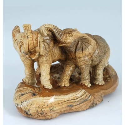 Elefanti in Pietra Paesina