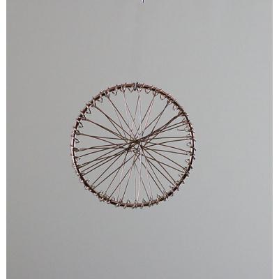 Ruota con raggi color Argento diametro 4 cm - 1 pz.