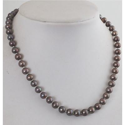 Collana Corta di Perle d' acqua dolce