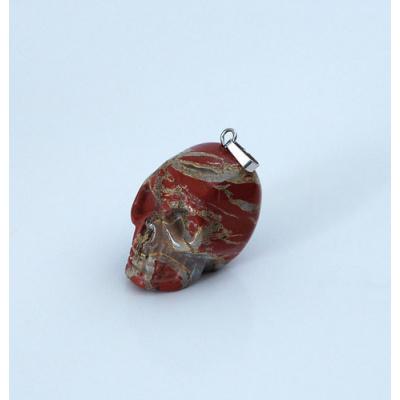 Teschio in Diaspro Rosso