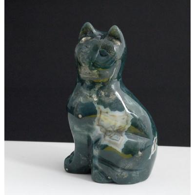 Gatto in Diaspro Orbicolare