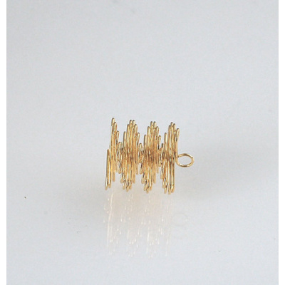 Pendente elicoidale con occhiello color Oro diametro 1.5 cm - 4 pz.