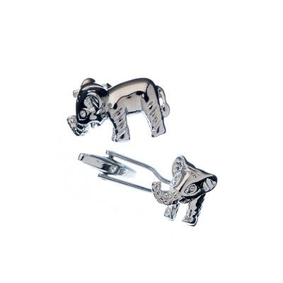 Gemelli in Acciaio inossidabile - Elefanti