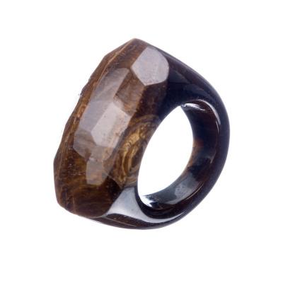 Anello All Stone in Occhio di Tigre - Sfaccettato