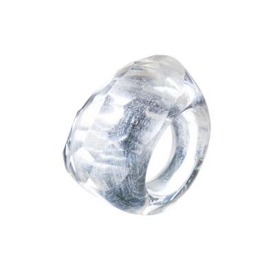 Anello All Stone in Cristallo di Rocca - Sfaccettato