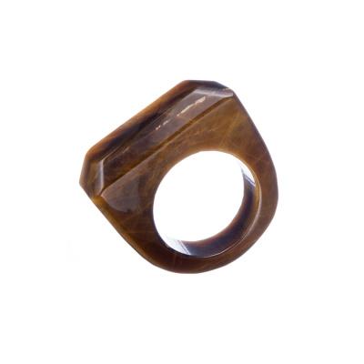 Anello All Stone in Occhio di Tigre - Liscio