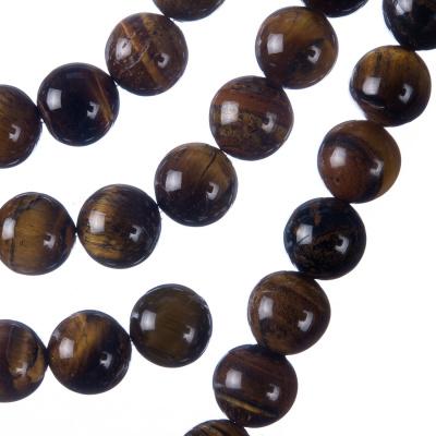 Occhio di Tigre - Filo di sfere lisce da 10mm