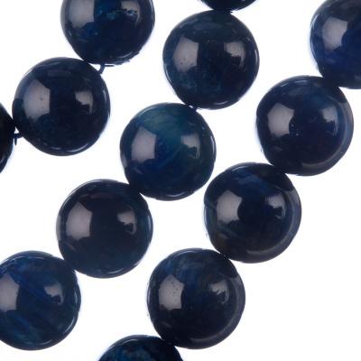 Occhio di Falco Blu Grado AAA - Filo di sfere lisce da 14mm