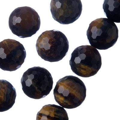 Occhio di Falco - Filo di sfere sfaccettate da 14mm