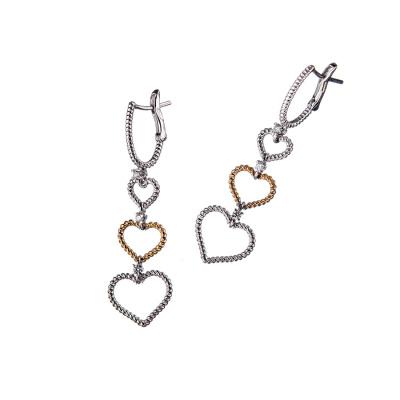 """Orecchini """"Love"""" in Oro 18k con Diamanti 0.07 ct."""
