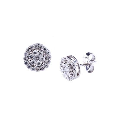 Orecchini in Oro bianco 18k con Diamanti 0.70 ct.