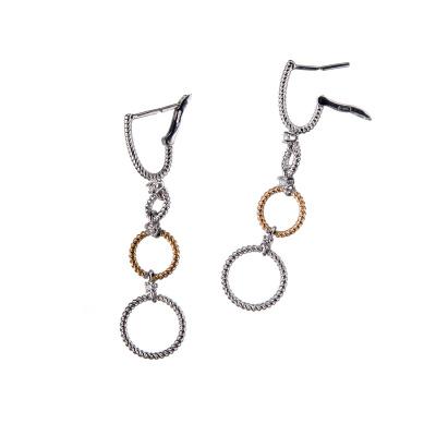 """Orecchini """"Circles"""" in Oro 18k con Diamanti 0.07 ct."""