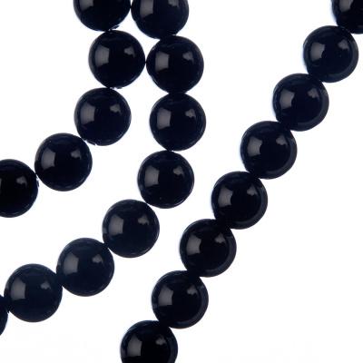 Ossidiana Nera - Filo di sfere lisce da 8mm