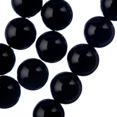 Ossidiana Nera - Filo di sfere lisce da 14mm