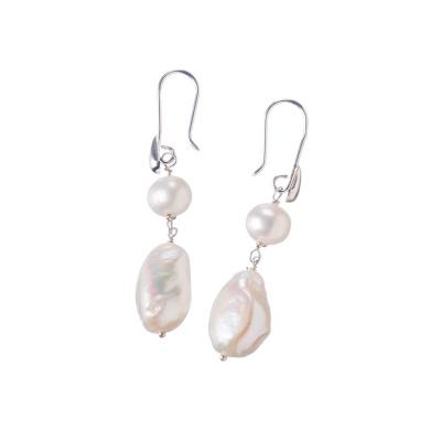 Orecchini pendenti di Perle e Ag 925