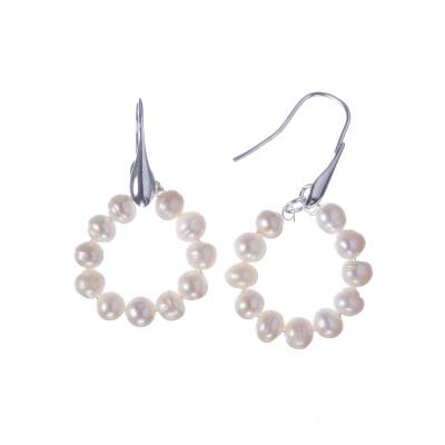 Orecchini di Perle bianche e Ag 925