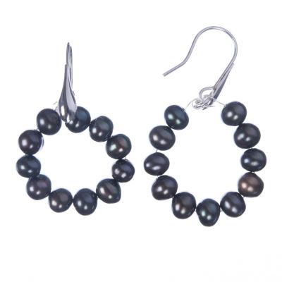 Orecchini di Perle grigie e Ag 925