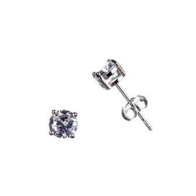 Orecchini con Zirconi e Argento 925 - 0.5 cm