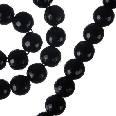 Ossidiana Nera - Filo di sfere sfaccettate da 10mm
