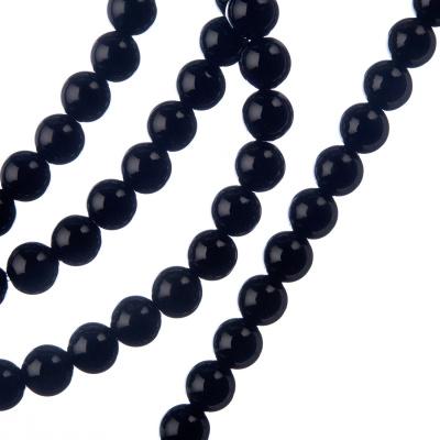 Ossidiana Nera - Filo di sfere lisce da 6mm