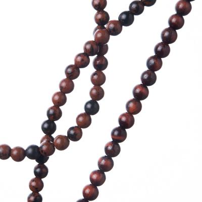 Ossidiana Marrone - Filo di sfere lisce da 4mm