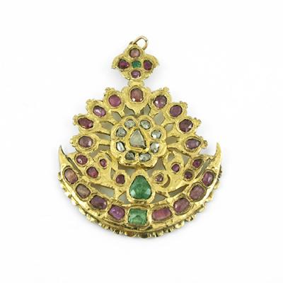Ciondolo con Rubini, Smeraldi, Diamanti e Oro 18 K
