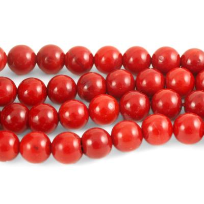 Corallo Bambù Rosso - sfera liscia da 10mm