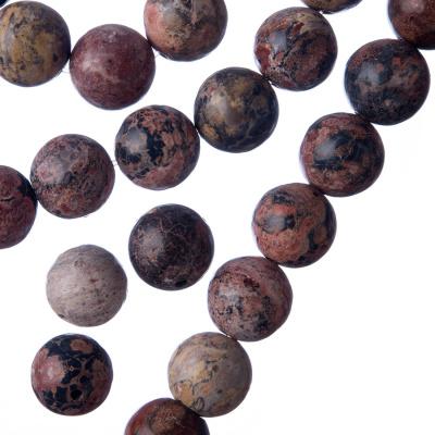 Pelle di Leopardo - sfera liscia da 10mm
