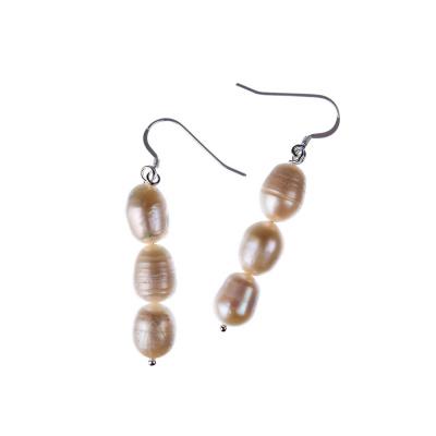 Orecchini di Perle bianche d'Acqua dolce e Argento 925