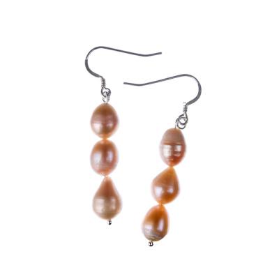 Orecchini di Perle rosa d'Acqua dolce e Argento 925